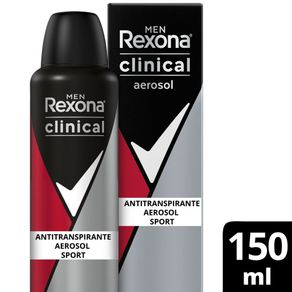 Desodorante Aerosol Rexona Clinical Sport 150ml