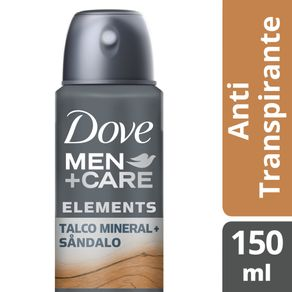 Desodorante Antitranspirante Aerossol Dove Men + Care Talco Mineral + Sândalo 150ml