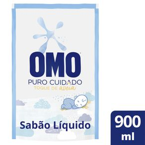 Sabão Líquido Omo +Puro Cuidado Refil 900ml