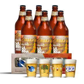 Kit-Cerveja-Wals-Lagoinha-Pilsen-600ml-6-Unidades---Conjunto-de-Copos-Wals-Lagoinha-4-Unidades