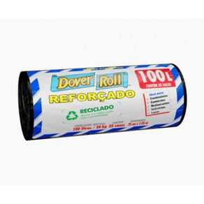 Saco-de-Lixo-Dover-Roll-Reforcado-Reciclado-Preto-100L-com-25-sacos