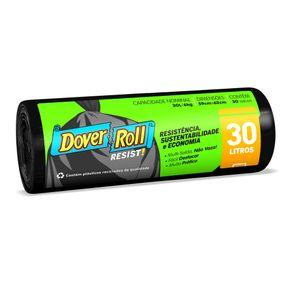 Saco-para-Lixo-Dover-Roll-Super-Forte-Preto-30L-com-30-Unidades