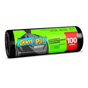 Saco-para-Lixo-Dover-Roll-Super-Forte-Preto-100L-com-15-Unidades