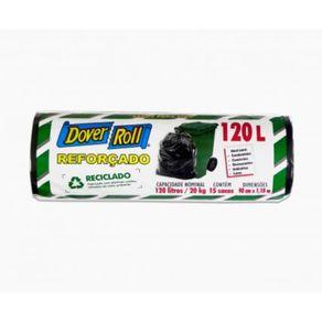 Saco-Para-Lixo-Dover-Roll-Reforcado-Preto-120-Litros-Rolo-15-Unidades