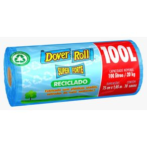 Saco-Para-Lixo-Dover-Roll-Azul-Super-Forte-100-Litros-Rolo-com-10-Unidades