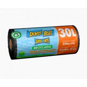 Saco-Para-Lixo--Dover-Roll-Super-Forte-Reciclado-Preto-30L-com-30-sacos