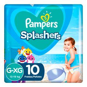 Fraldas-Para-Agua-Pampers-Splashers-Baby-Shark-G-XG-10-Tiras