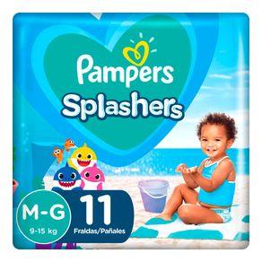 Fraldas-Descartaveis-Para-Agua-Pampers-Splashers-Baby-Shark-M-G-11-Tiras