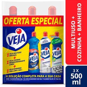 kit-veja-limpadores-500ml-multiuso-original-cozinha-desengordurante-limao-banheiro-tira-limo