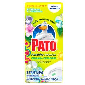 Desodorizador-Sanitario-Pato-Pastilha-Adesiva-Ciranda-de-Flores-3-unidades