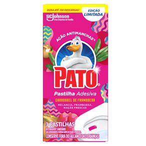 Desodorizador-Sanitario-Pato-Pastilha-Adesiva-Carrossel-de-Framboesa-3-Unidades