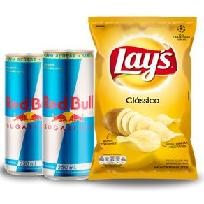 Combo-2-Unidades-Energetico-Red-Bull-Sugar-Free-250ml---Batata-Frita-Lays-Classica-96g