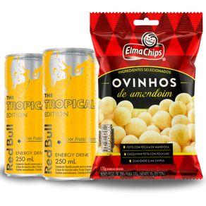 Combo-2-Unidades-Energetico-Red-Bull-Tropical-250ml---Ovinhos-de-Amendoim-Elma-Chips-170g