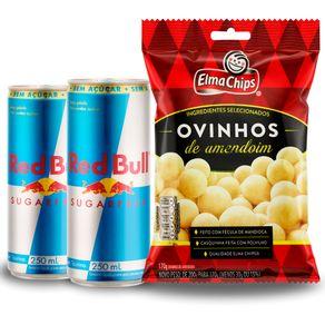 Combo-2-Unidades-Energetico-Red-Bull-Sugar-Free-250ml---Ovinhos-de-Amendoim-Elma-Chips-170g