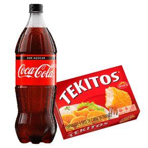 Combo-Refrigerante-Coca-Cola-Sem-Acucar-15L---Empanado-de-Frango-Seara-Tekitos-Tradicional-300g