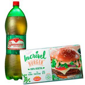 Combo-Hamburguer-Vegetal-de-Ervilha-Seara-Incrivel-Sabor-Carne-452g---Refrigerante-Guarana-Antarctica-2L