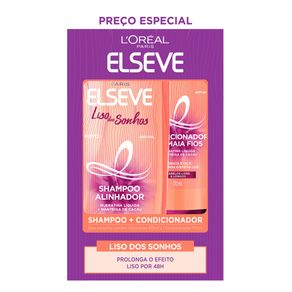 Kit-Elseve-Shampoo-375ml---Condicionador-170ml-Liso-dos-Sonhos