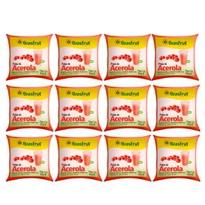 Pack Polpa de Fruta Brasfrut Acerola 100g 12 Unidades