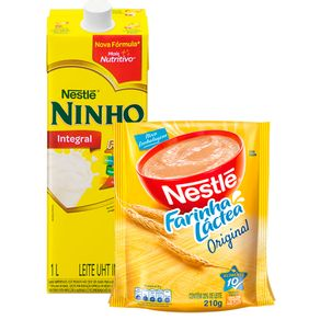 Combo-Leite-Ninho-Integral-1L---Farinha-Lactea-Nestle-Tradicional-210g