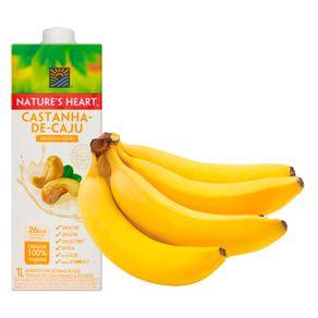 Combo-Bebida-Vegetal-Natures-Heart-Castanha-de-Caju-1L---Banana-Prata-Bandeja-800g