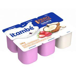 Iogurte-Parcialmente-Desnatado-Morango---Coco-Zero-Lactose-Itambe-Nolac-Bandeja-540g-6-Unidades