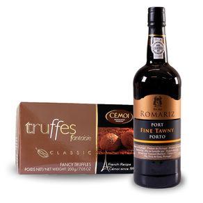 Kit-Vinho-Do-Porto-Ruby-Romariz-750ml---Trufa-Francesa-Cemoi-Chocolate-Classic-200g