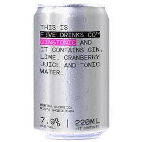 Bebida-Mista-Alcoolica-Gin-Tonica-Five-Drinks-Lata-220ml